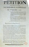 1791 Pétition à l'Assemblée nationale