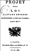 1801 Interdiction de la lecture